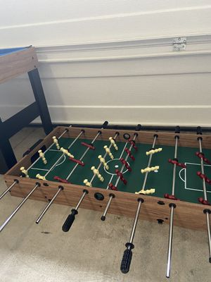 Mini pool table, with foosball table, and air hockey attachment for Sale in Ridgefield, WA