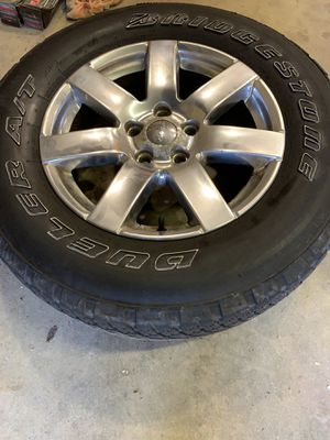 """Jeep Wrangler 18"""" rims and tires all 5 for Sale in Gahanna, OH"""