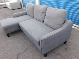 Comfortable sectional couch small Gray, in the bed , for Sale in Phoenix, AZ