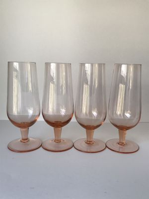 Vintage Boho Pink / Peach Stemware / Glassware / Wine Glasses for Sale in Maple Valley, WA