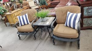 Patio set 2 Chairs 1 side table 🦃We are located at 2811 E. Bell Rd.  We are Another Time Around Furniture for Sale in Phoenix, AZ