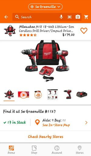 Milwaukee M18 impact driver drill driver kit for Sale in Clemson, SC