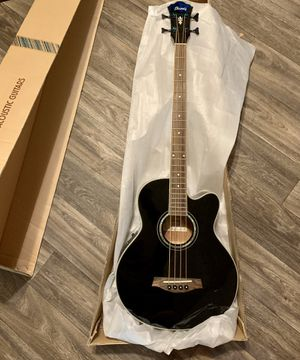 Ibanez AEB10E Acoustic-Electric Bass Guitar in Dark Violin Sunburst High Gloss F for Sale in Las Vegas, NV
