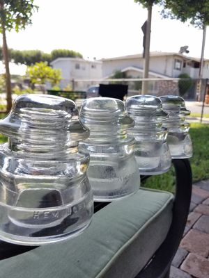 Vintage HEMINGWAY & WHITALL TATUM glass Insulators for Sale in Los Angeles, CA