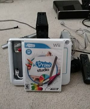 Nintendo wii with u Draw Studio and uDraw game tablet for Sale in Menifee, CA