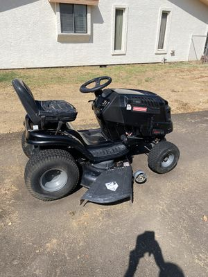 Craftsman riding lawnmower model LT 2000 21 horse power briggs and Stratton motor, all new belts all new blades new starter brand new battery brand n for Sale in Sun City, AZ