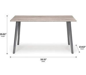 OFM 55in Driftwood Computer Desk with Sleek Silver Angled Legs for Sale in Hilliard, OH