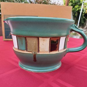 Hand-made Artisan Mixing Bowl Turquoise for Sale in Altadena, CA