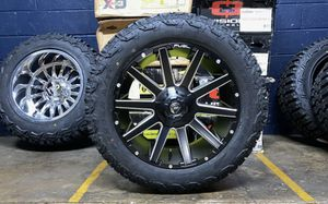 """20x9 D616 Fuel Contra Black Wheels Rim 32"""" AT Tires Package 5x5.5 Dodge Ram 1500 for Sale in Tampa, FL"""