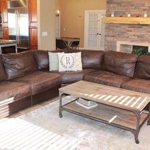 Brown Leather Sectional for Sale in Phoenix, AZ