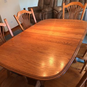 Table and Six Chairs for Sale in Yorkville, IL
