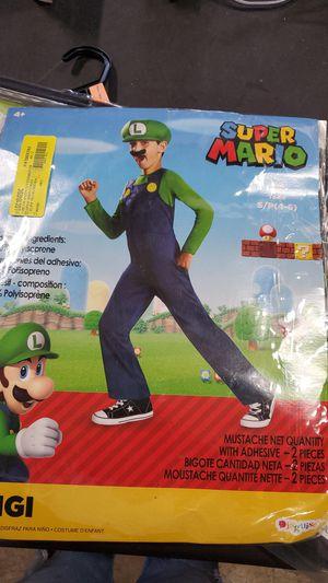 Super Mario Luigi costume size small 4 to 6 for Sale in Riverside, CA