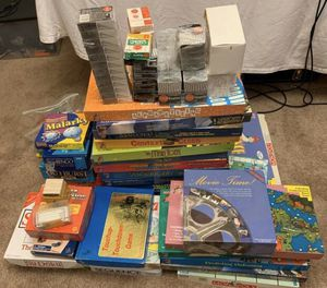 Tons of board games, chalk, blocks and poker chips for Sale in Mansfield, TX