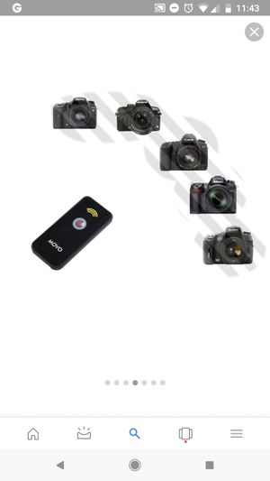 Movo Photo Universal IR Remote Control Shutter Release for Canon EOS Nikon Sony Alpha Olympus & Pentax DSLR Cameras for Sale in Brooklyn, NY