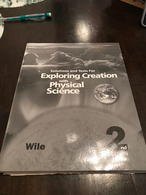 Solution and test for exploring creation with physical science 2nd edition for Sale in Riverside, CA