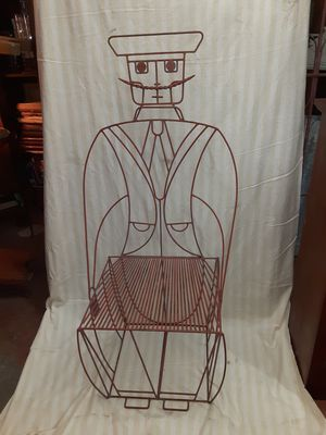 Mid Century Modern Wrought Iron John Risley Moustache Man Chair for Sale in Oro Valley, AZ