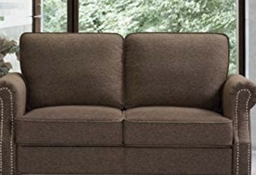 Loveseat High Stretch Sofa Lounge, Brown for Sale in Cleveland,  OH