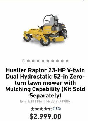 Hustler Raptor 23-GP v-Twin Lawn Mower for Sale in Laurel, MD
