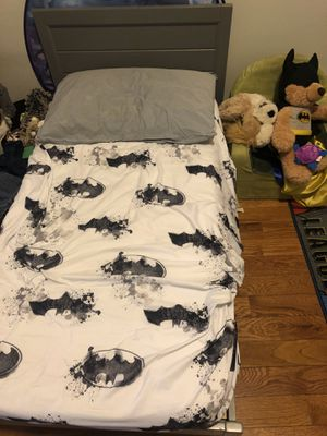 Gray Toddler Bed & Mattress!! for Sale in Brooklyn, NY
