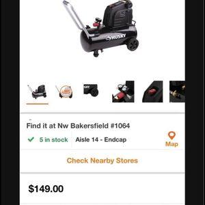 Husky 8 Gallon Compressor for Sale in Bakersfield, CA