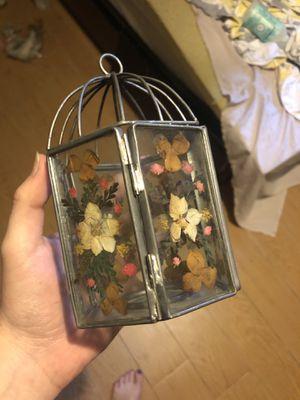 Pressed flower candle holder for Sale in Port St. Lucie, FL