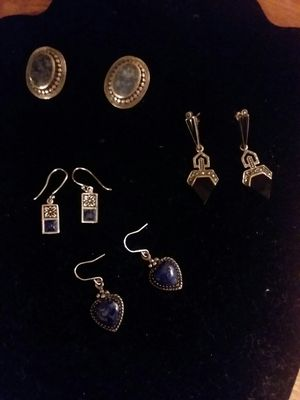 Blue lapis lazuli earrings for Sale in Northumberland, PA