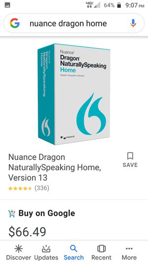 Nuance dragon talk to text program for Sale in New Port Richey, FL