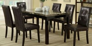 Faux Marble Top Casual Style Dining Table for Sale in Ontario, CA