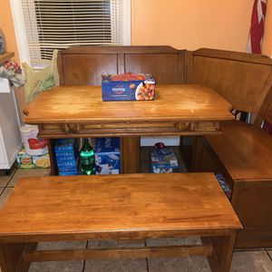Solid Wood Breakfast Nook for Sale in Lynbrook, NY