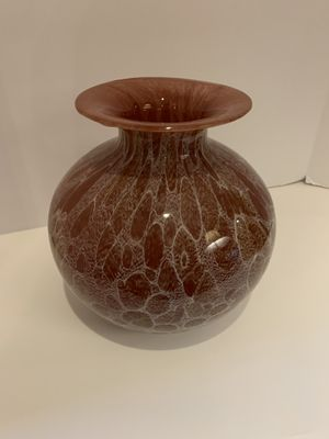 Brown and white Glass Vase for Sale in FL, US