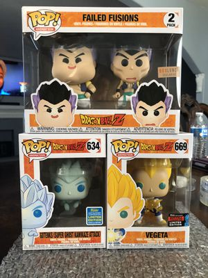 Dragon Ball Z Funko Pops Vegeta Gotenks for Sale in Vernon, CA