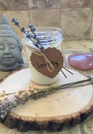 Hand Made Soy Wax Candle with Amethyst Crystals for Sale in Alameda, CA