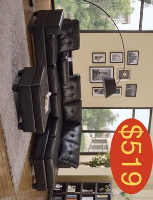 Sectional with free storage ottoman fast delivery ez financing for Sale in Houston, TX