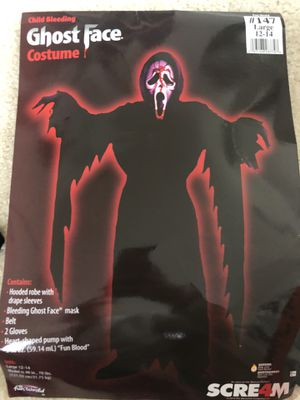 Ghost face costume size 12/14 L for Sale in Paeonian Springs, VA
