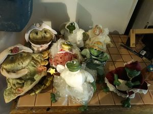 Russ Glass plush frog collection for Sale in Portland, OR