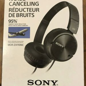 Sony MDRZX110NC Noise Cancelling Headphones, Black for Sale in Houston, TX