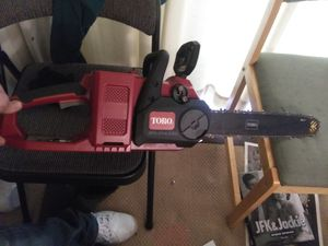 Toro battery powered chainsaw for Sale in West Valley City, UT