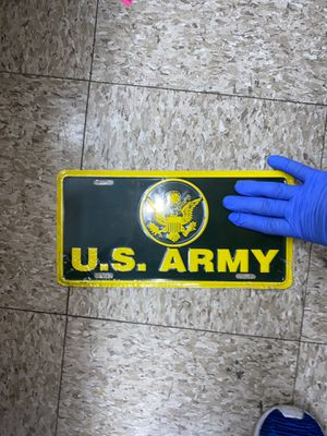 US ARMY License Plate for Sale in College Station, TX