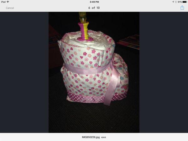 Diaper Bouquet, Bootie, Wreath or Crib