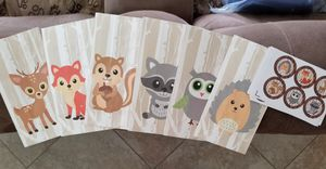 UNUSED WOODLAND THEME BABY SHOWER EXTRAS for Sale in San Diego, CA