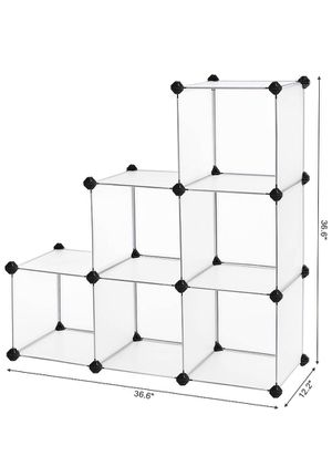SONGMICS Storage 6 Cube Organizer DIY Closet Cabinet Chests Space-Saving ULPC06W for Sale in Claremont, CA