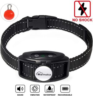 Dog Bark Collars for Small Medium Large Dogs NO Shock Anti Barking Collar with Dual Vibration Motor(3rd Generation)5 Adjustable Sensitivity Waterproof for Sale in West Covina, CA