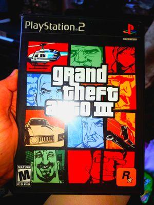 ORIGINAL GRAND THEFT AUTO III PS2 GAME for Sale in Occoquan, VA