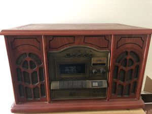 Wooden Record Player with CD/Cassette/Radio for Sale in Washington, PA