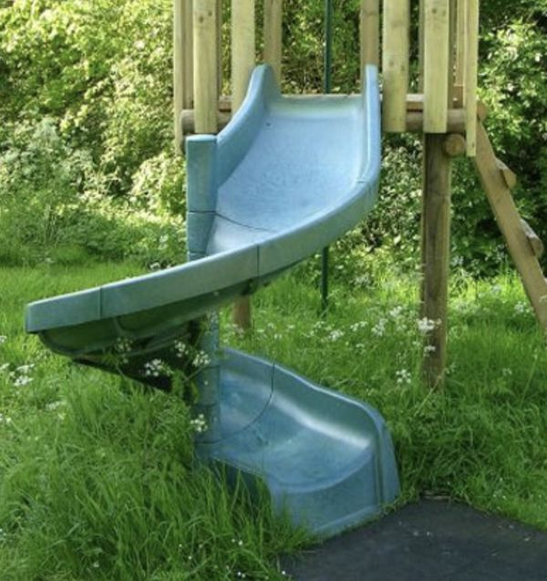 Green Spiral Slide