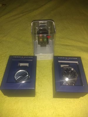 2 Tommy Hilfiger men watches plus free Fitbit for Sale in Lorton, VA