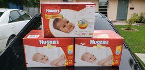 Huggies Little Snugglers Size 1 - 80ct. $25.00 each for Sale in Tamarac, FL