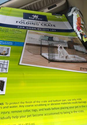 "XL Dog Crate 48"" Double Door Folding for Sale in Clarksburg, MD"