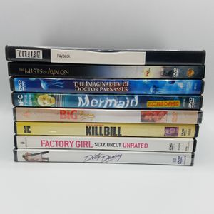 Drama Fantasy DVD Movie Lot of 8: Dirty Dancing, Kill Bill, Mermaid for Sale in Bethesda, MD