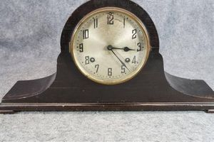 The New Haven Clock Company Tambour No. 16 Wooden Footed Wind-Up Clock for Sale in Denver, CO
